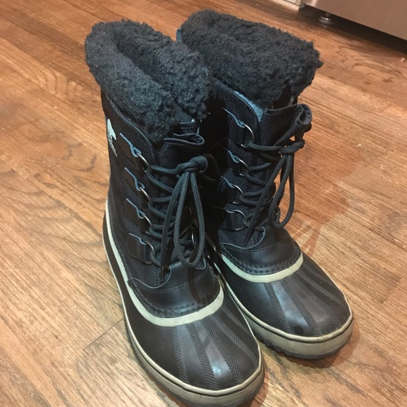 0ca35df6d8 Sorel Men's Black/Tusk 1964 Pac Nylon Snow Boots